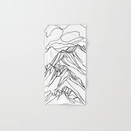 Ymir Mountain Ridges :: Single Line Hand & Bath Towel