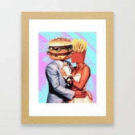 Fast Food Love Framed Art Print