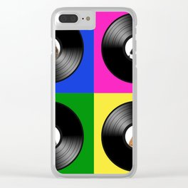 Hey Cat Pop Art Clear iPhone Case