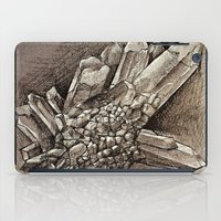 crystals iPad Cases featuring Crystals by Werk of Art