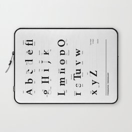 Tipography Laptop Sleeve