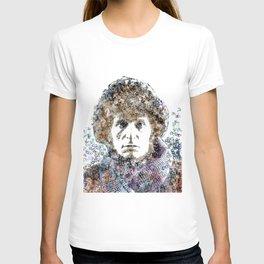 Tom Baker Text Portrait T-shirt