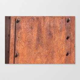 Old Gold Mining Iron Sheets made into Street Lights. Canvas Print