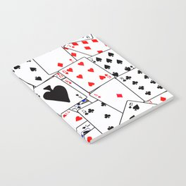 Random Playing Card Background Notebook
