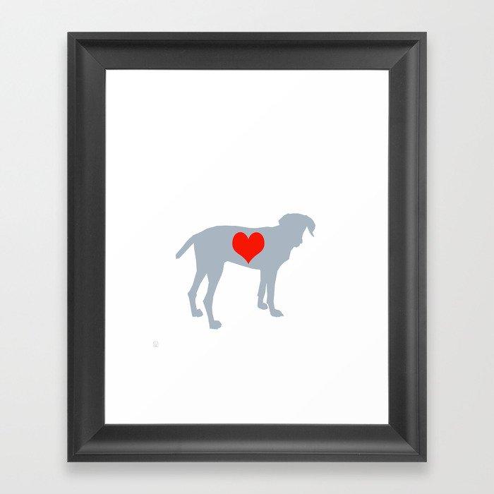Weim Love Framed Art Print