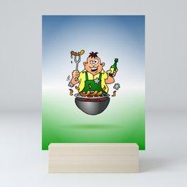 BBQ - Grill Mini Art Print