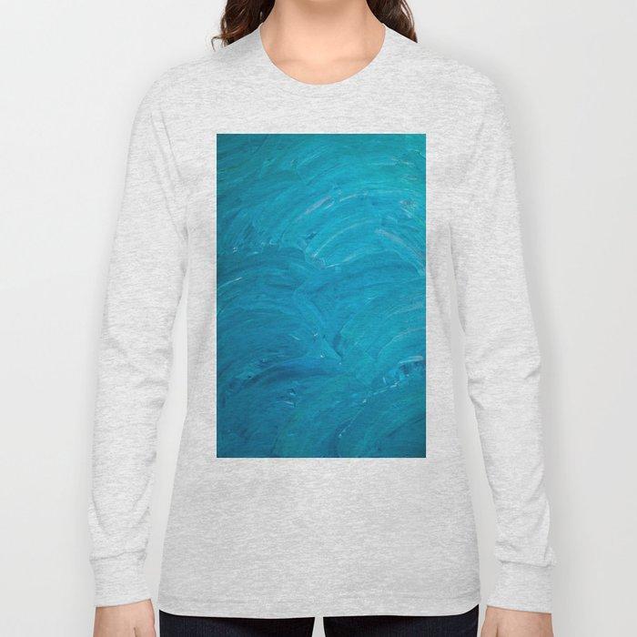 Blue Swipes Long Sleeve T-shirt