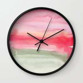 14   | Abstract Minimal Watercolor Painting | 191222 Wall Clock