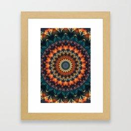 Fundamental Spiral Mandala Framed Art Print