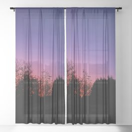 Shepherd's Warning Sheer Curtain