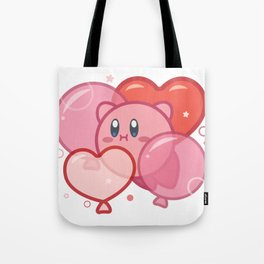 Kirby + Balloons Tote Bag