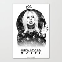 ahs Canvas Prints featuring AHS Hotel by Ash Tarek