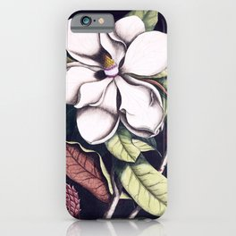 Magnolia flower iPhone Case