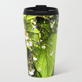 Blue Florets Travel Mug