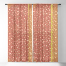 Snoopy sees Earth Wrapped in Sunset African American Masterpiece by Alma Thomas Sheer Curtain