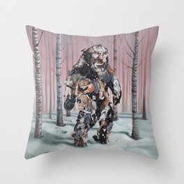 Catsquatch II Throw Pillow