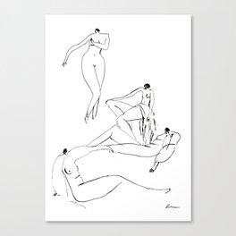 Vintage ladies nudes Canvas Print