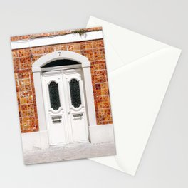 The white door of Cascais | Lisbon Portugal fine art travel photography print Stationery Cards