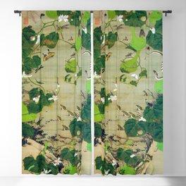 Ito Jakuchu - Pond Insects - Digital Remastered Edition Blackout Curtain