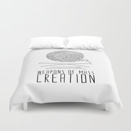 Weapons Of Mass Creation - Knitting Duvet Cover