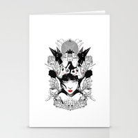 witchcraft Stationery Cards featuring Witchcraft by Sergio Saucedo