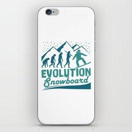 Evolution Snowboard iPhone Skin