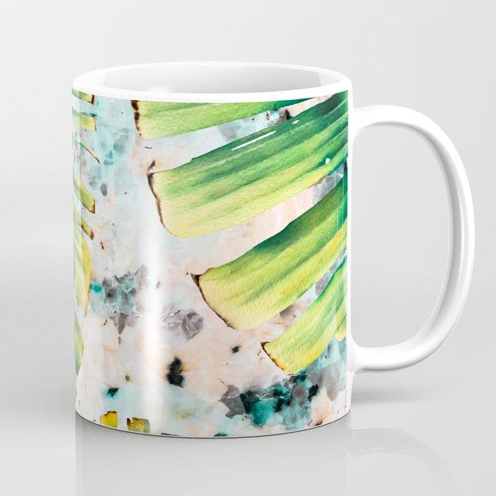 Palm leaf on marble 01 Coffee Mug