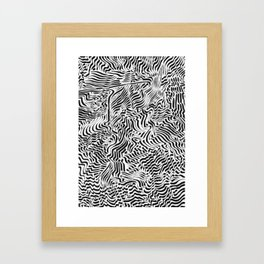 OCD and a Calligraphy #1 Framed Art Print