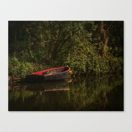 Dinghy On The Oxford Canal Canvas Print