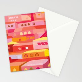 Houses Pattern Stationery Cards