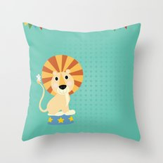 Circus Lion  Throw Pillow