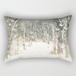 Winter Woods Rectangular Pillow