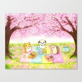 Cherry Blossom Bento Picnic Canvas Print