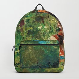Little Red Riding Hood And The Wolf In The Forest - Carl Larsson Backpack