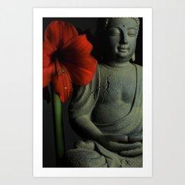 Amaryllis Buddha Art Print
