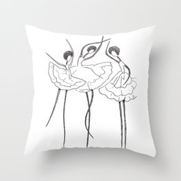 Ink and Ballet 3 Throw Pillow