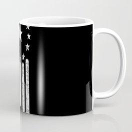 Black And White Old World American Flag Coffee Mug