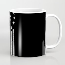 Black And White Old World American Flag Coffee Mug