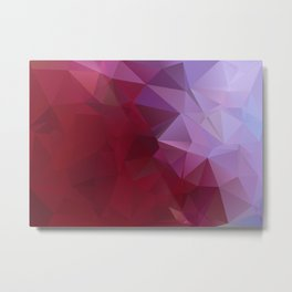 POPPY RED AND LILAC LOWPOLY Metal Print