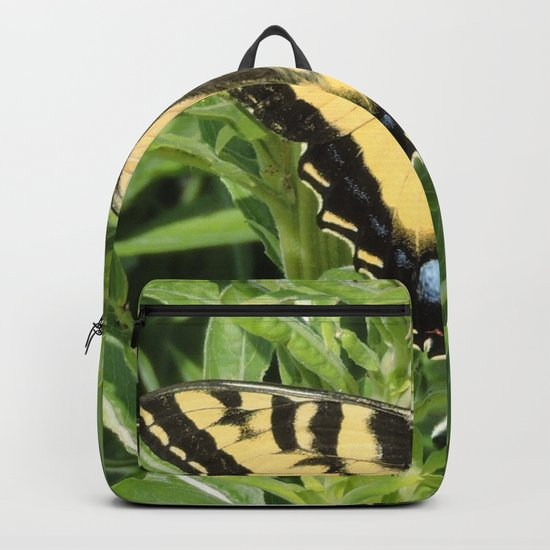 Swallowtail at Rest on Greenery Backpack