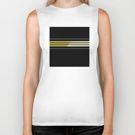 Team Colors 5..Gold.black,white Biker Tank