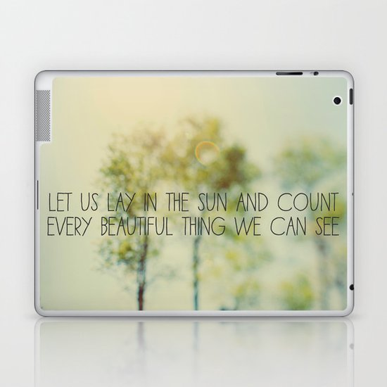 Lay in the Sun Laptop & iPad Skin