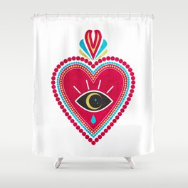 Ex Voto Sacred Heart Shower Curtain