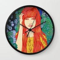 silence of the lambs Wall Clocks featuring Silence by Natsuki Otani