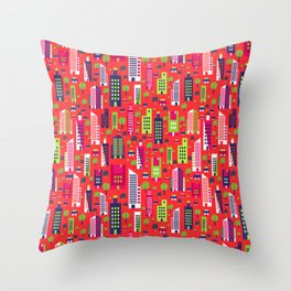 City of Colors Throw Pillow