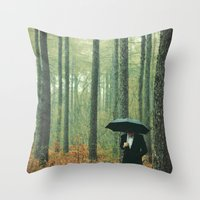 suits Throw Pillows featuring Trees In Suits by Matt(ikus)