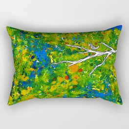 Bird out the Bush Rectangular Pillow