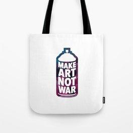 Make Art Not War (white) Tote Bag