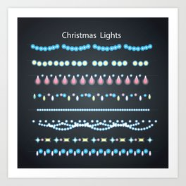 Cristmas Lights Art Print