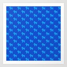 Dogs-Blue Art Print